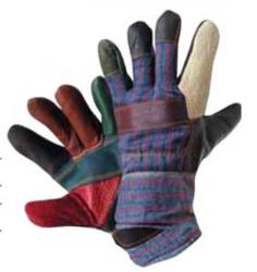 Перчатки «Радуга» кожаные комбинированные