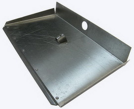 Лопата снегоуборочная алюминиевая с накладкой